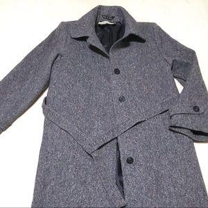 Jimmy Hourihan Donegal Tweed Overcoat 12 Blue